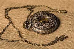 Reloj del bolsillo del vintage Imágenes de archivo libres de regalías