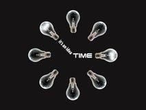 Reloj del bulbo fotografía de archivo