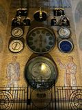 Reloj del calendario de Orloj en la ciudad Olomouc, República Checa imagen de archivo