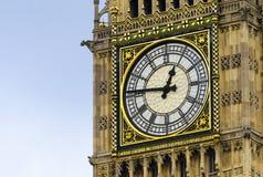 Reloj del cierre de Big Ben para arriba, Londres Fotografía de archivo