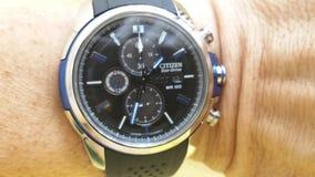 Reloj del ciudadano Fotos de archivo
