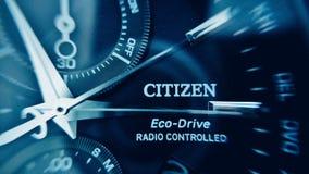 Reloj del ciudadano fotografía de archivo