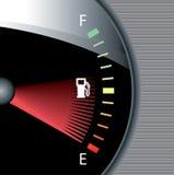 Reloj del combustible stock de ilustración