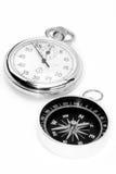 Reloj del compás Imágenes de archivo libres de regalías