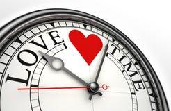 Reloj del concepto del tiempo del amor Fotos de archivo libres de regalías