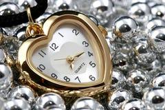 Reloj del corazón Imágenes de archivo libres de regalías