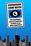 Reloj del crimen de la vecindad Imágenes de archivo libres de regalías