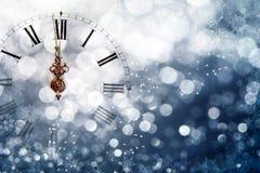 Reloj del ` de doce o - víspera del ` s del Año Nuevo Fotografía de archivo libre de regalías