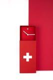Reloj del diseño del suizo Imágenes de archivo libres de regalías