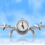 Reloj del escritorio del aeroplano de la vendimia Fotografía de archivo
