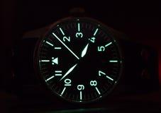 Reloj del flieger de Stowa con la correa de cuero Fotografía de archivo libre de regalías