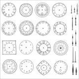 Reloj del garabato del vector Imagen de archivo libre de regalías