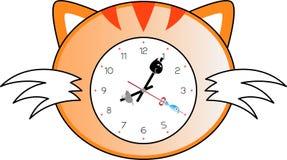 Reloj del gato Imágenes de archivo libres de regalías