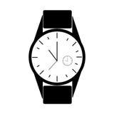 Reloj del hombre con el momento diferente de reloj dentro Fotos de archivo