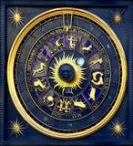Reloj del horóscopo Foto de archivo libre de regalías