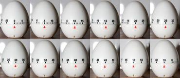 Reloj del huevo del lapso de tiempo Imagen de archivo libre de regalías