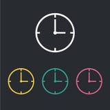 Reloj del icono Imágenes de archivo libres de regalías