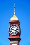 Reloj del jubileo en la explanada, Weymouth Foto de archivo