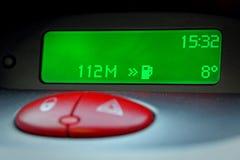 Reloj del kilometraje del coche de Digitaces Fotografía de archivo libre de regalías