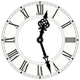 Reloj del número romano Foto de archivo