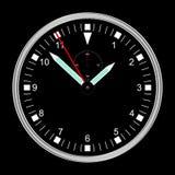 Reloj del negro del ejemplo Fotografía de archivo libre de regalías
