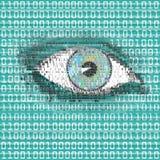 Reloj del ojo de Digitaces Foto de archivo libre de regalías