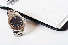 Reloj del organizador fotografía de archivo libre de regalías