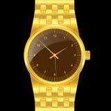 Reloj del oro Fotos de archivo libres de regalías