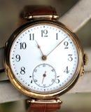 Reloj del oro del vintage imágenes de archivo libres de regalías