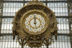Reloj del oro, Musee d'Orsay imágenes de archivo libres de regalías