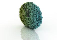 Reloj del pixel Imagen de archivo libre de regalías