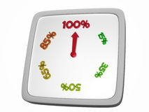 Reloj del por ciento ilustración del vector