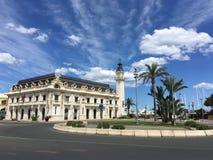 Reloj del Puerto Valencia Royaltyfri Bild