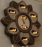 Reloj del rezo en Sheikh Zayed Grand Mosque Imagen de archivo libre de regalías