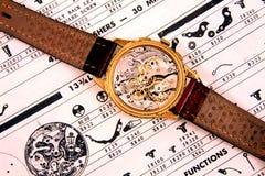 Reloj del suizo de la vendimia Imagen de archivo libre de regalías