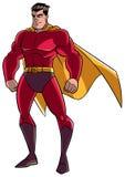 Reloj del super héroe en blanco stock de ilustración