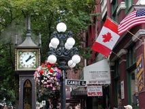Reloj del vapor, Vancouver, A.C., Canadá fotografía de archivo
