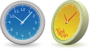 Reloj del vector Imágenes de archivo libres de regalías