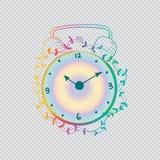 Reloj dibujado mano Imagen de archivo libre de regalías