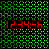 Reloj digital atómico Imagen de archivo libre de regalías