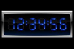 Reloj digital azul Ilustración del Vector