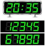 Reloj digital del vector Fotografía de archivo libre de regalías