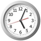 Reloj digital montado en la pared Fotografía de archivo