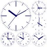 Reloj digital montado en la pared Imágenes de archivo libres de regalías