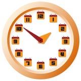 Reloj digital montado en la pared Imagen de archivo