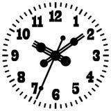 Reloj digital montado en la pared Fotografía de archivo libre de regalías