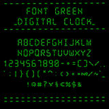 Reloj digital verde de la fuente Foto de archivo libre de regalías