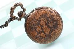 Reloj diseñado de la mano imagen de archivo libre de regalías