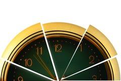 Reloj dividido en segmentos Foto de archivo libre de regalías