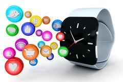 Reloj elegante ilustración del vector